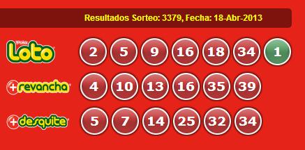 SORTEO 3379